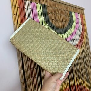 Vintage Bags - Vintage woven bamboo clutch!